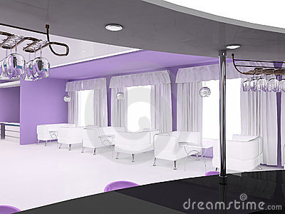 Furniture interior violet space