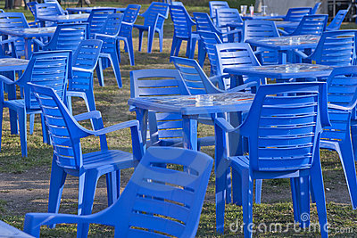 Furniture, Plastic Chairs and Tables