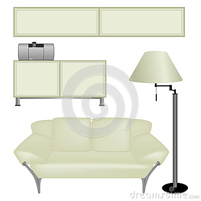 Furnitures isolated