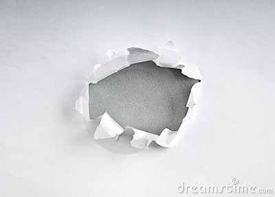 Furo no papel