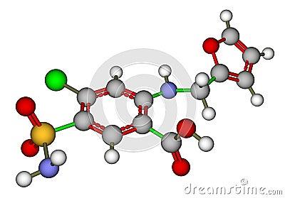 Furosemide molecular structure