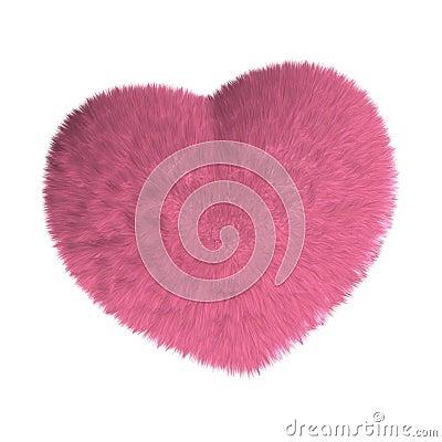 Furry pink heart