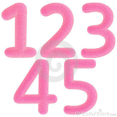 Furry pink numbers