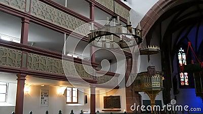 Furth Niemcy, Grudzień, - 3, 2018: Wnętrze stary kościół katolicki bez ludzi zbiory