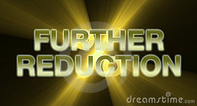 Further Reduction banner golden flare