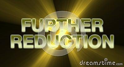 Further Reduction banner golden light flare