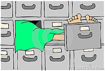 Fuselage dans une morgue