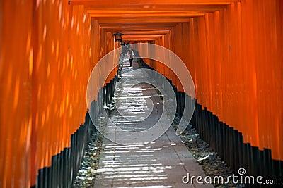 Fushimi Inari Shrine in Kyoto Editorial Photo