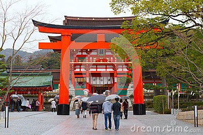 Fushimi Inari Shrine, Kyoto, Japan Editorial Image