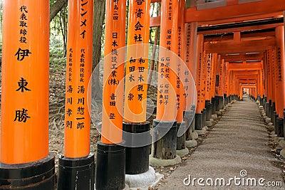 Fushimi Inari shrine tunnel