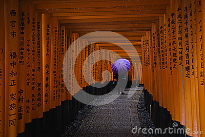 Fushimi Inari taisha Editorial Photo