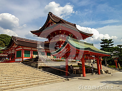 Fushimi Inari taisha shrine in Kyoto, Japan Editorial Photo