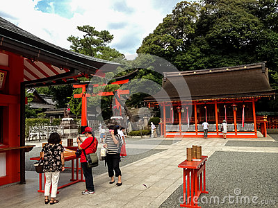 Fushimi Inari taisha shrine in Kyoto, Japan Editorial Image