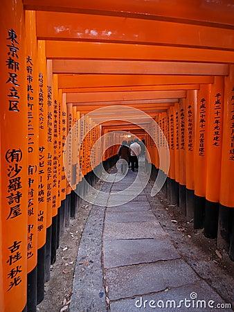 Fushimiinari Redaktionell Foto