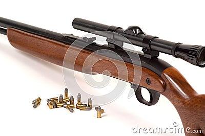 Fusil avec des munitions