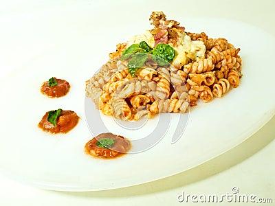 Fusili Pasta with Tomato Sauce
