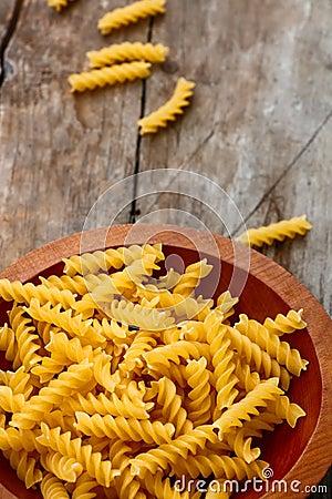 Free Fusilli Pasta Stock Photography - 45273412