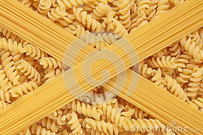 Fusilli Pasta and Spaghetti