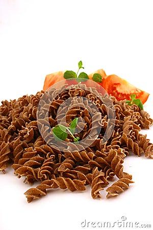 Fusilli twirls pasta