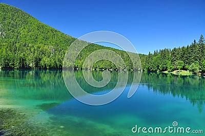 Fusine lake, Alps mountain scenery. Friuli, Italy