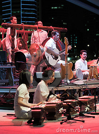 Fusion Gamelan Orchestra from Malaysia Editorial Image