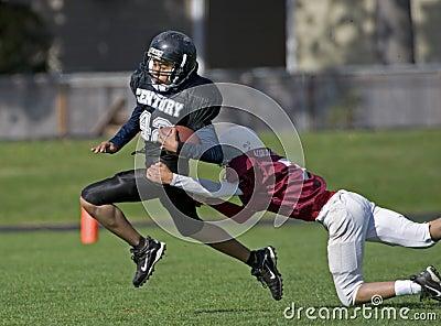 Futbol amerykański sprzętu młodość Fotografia Editorial