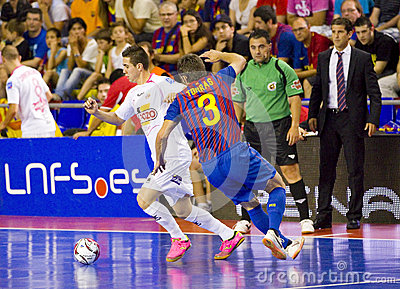 Futsal match Editorial Stock Photo