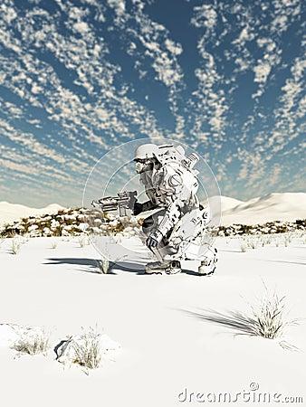 Fille de patrouille de neige
