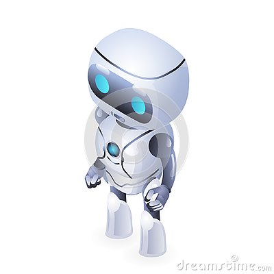 Free Future Isometric Cute Robot Innovation Technology Science Fiction Design Vector Illustration Stock Photo - 129506700