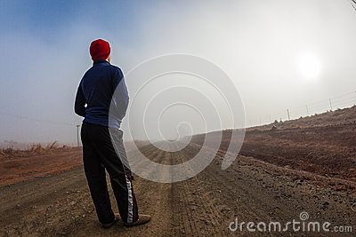 Teenager Mist Dirt Road