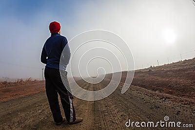 Teenager Mist Dirt Road