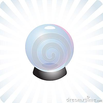 Future prediction crystal ball illustration