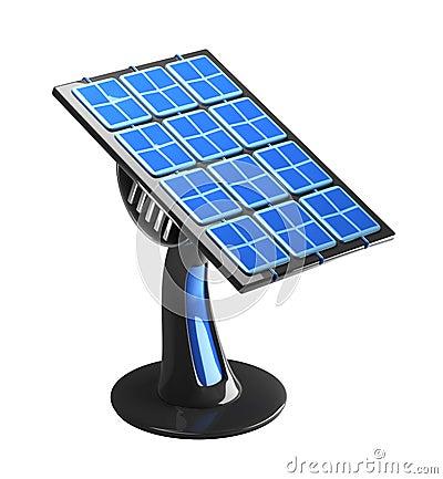 Futuristic 3d solar panel