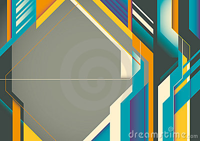 Futuristic abstract poster.