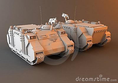 Futuristic APC Tank