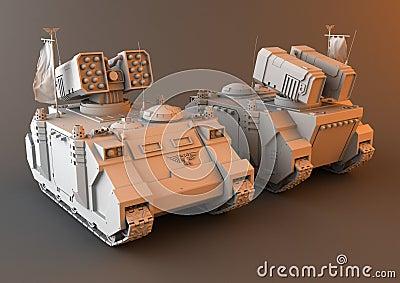 Futuristic Artillery Tank