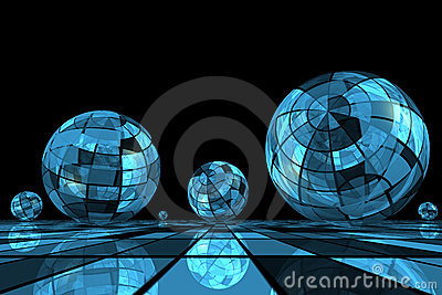 Futuristic blue balls