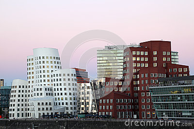 Futuristic buildings in Dusseldorf, Germany Editorial Image