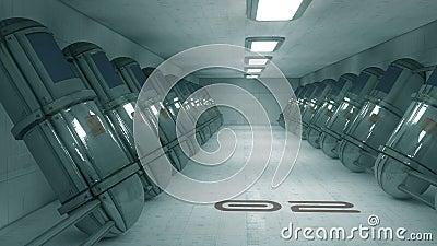 Futuristic corridor SCIFI