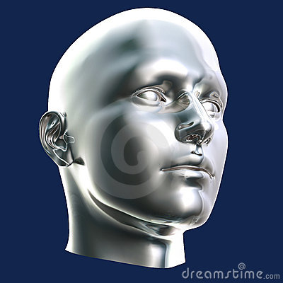 Futuristic Cyborg Head