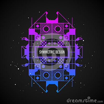 Free Futuristic Design Element In 80s Style With Colorful Gradient Stock Image - 87328231