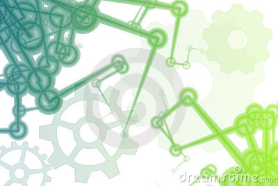Futuristic Factory Robot Arms Abstract
