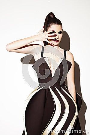 Futuristic fashion model