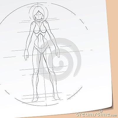 Futuristic Girl Sketch
