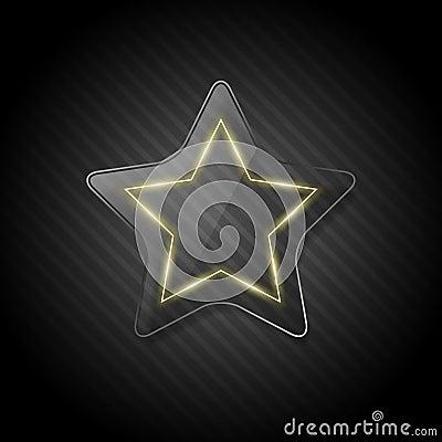 Futuristic glass star