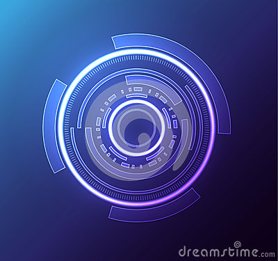 Free Futuristic Glowing Hud Element Eps 10 Royalty Free Stock Photography - 65726087