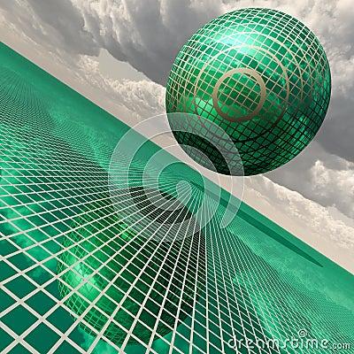 Futuristic green building