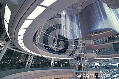 Futuristic hall interior
