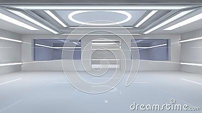Futuristic interior
