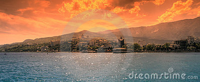 Futuristic landscape of Yalta